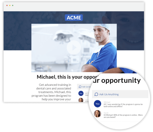 Personalized Video Landing Page by Pirsonal